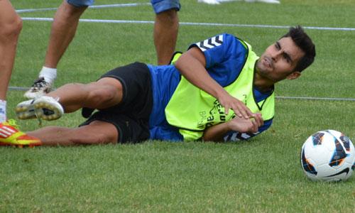 El partido del domingo ante el Numancia será especial para el centrocampista Dimas