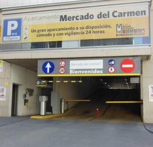 La construcción del Nuevo Mercado del Carmen vino acompañada de la dotación de un nuevo aparcamiento.