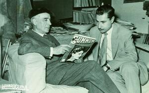 Francisco Garfias junto al pintor nervense Daniel Vázquez Díaz / Archivo Francisco Garfias / Donado por Paco López