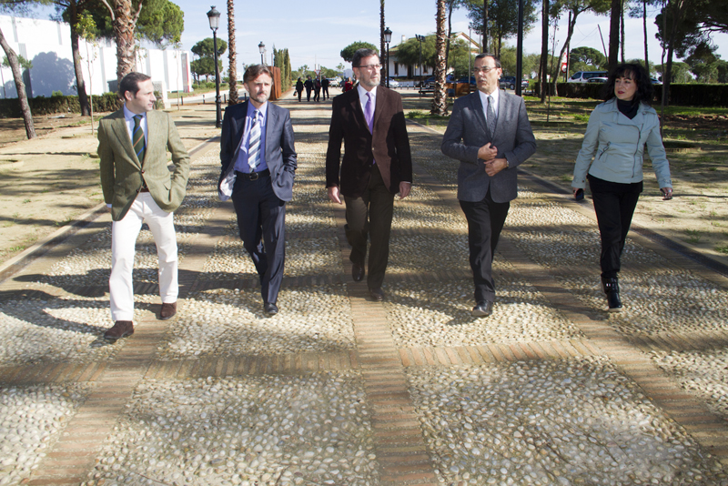 Gracia visitó La Rábida y ratificó su compromiso con la candidatura del enclave.