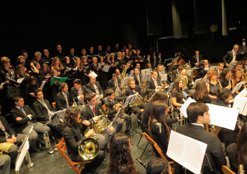 El Liceo de la Música de Moguer en una de sus actuaciones.