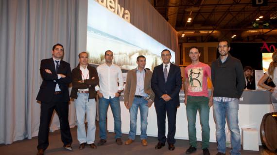 Emilio Martín y Paco Mancebo apadrinaron en Fitur el I 'Triatlón Ibérico' que se celebrará en octubre