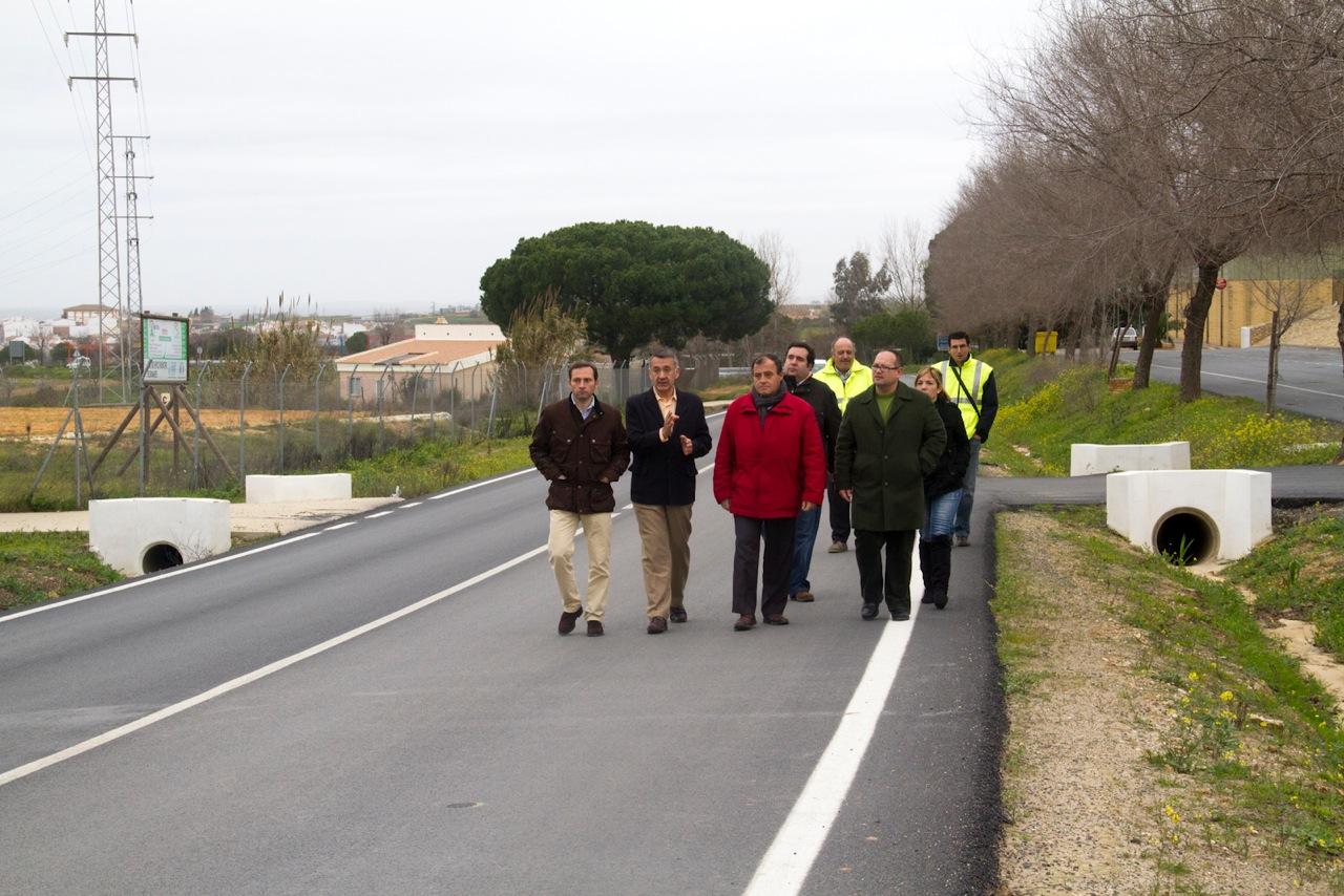 Inauguración de la carretera HU-3108 entre Bonares y la A-486 hacia Almonte