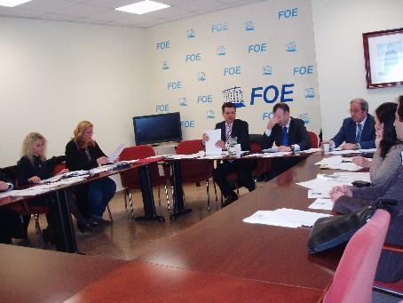 Reunión del jurado de los premios AJE Huelva.