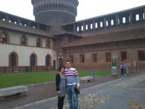 Durante su estancia en Milán, Rocío ha estado acompañada unos días por su novio, Adrián.