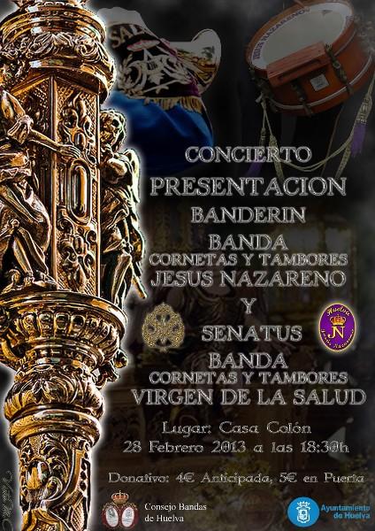 Cartel del concierto organizado por las Bandas de la Salud y el Nazareno