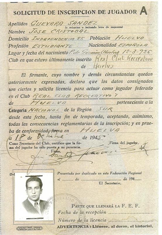 Documento sobre José Guevara.