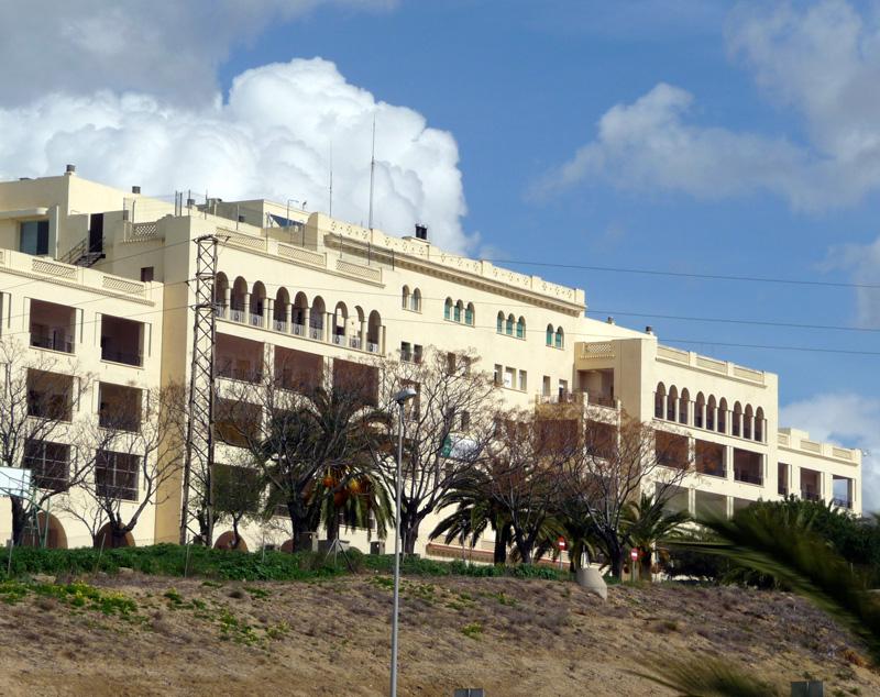 Imagen del Hospital Vázquez Díaz de Huelva. / Foto. www.wikipedia.org.