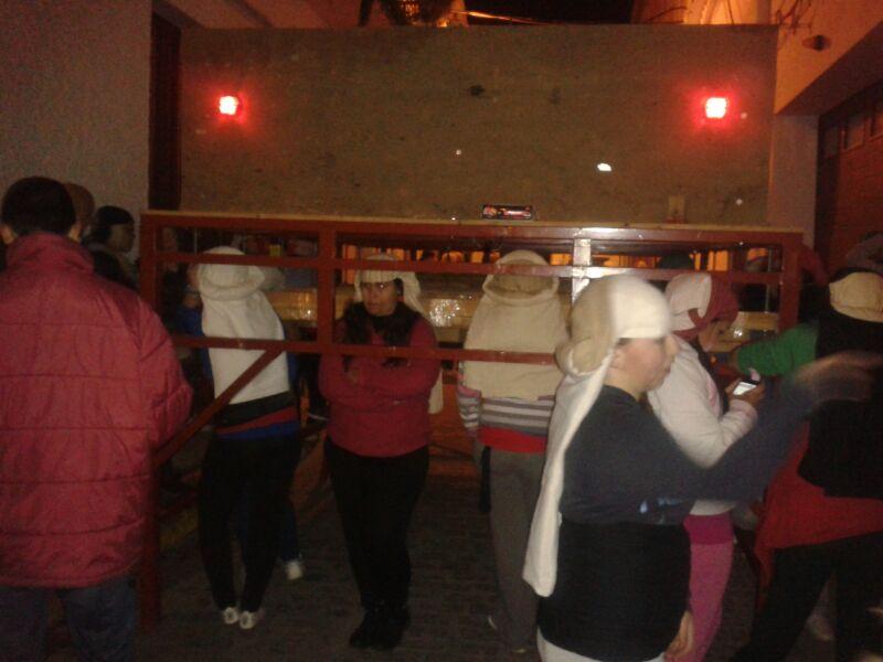 Las costaleras moguereñas practican de cara a la Semana Santa