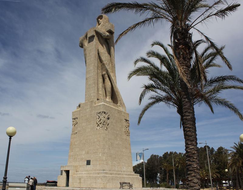 El Monumento a la Fe Descubridora es uno de los lugares más conocidos de Huelva.