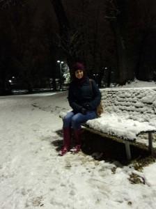 El clima de Huelva es algo que Rocío extraña, aunque le hizo ilusión las primeras nevadas en Milán.