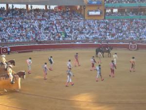 Imagen de la Plaza de Toros de La Merced durante las Fiestas Colombinas.
