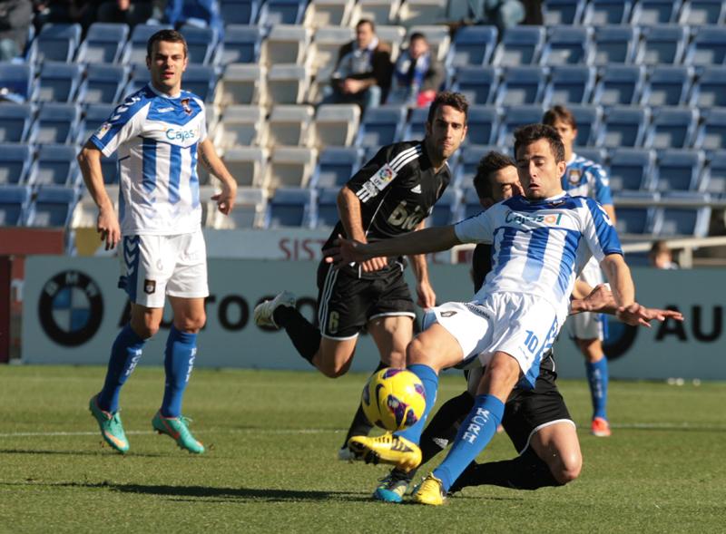 Jesús Rubio jugó los últimos minutos del partido de ayer ante el Numancia. / Foto: Josele Ruiz.