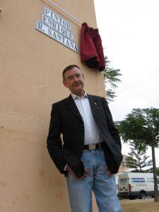 El lepero nunca olvida Huelva, a pesar de tener fijada su residencia en Chicago. / Foto: Fermín Cabanillas.
