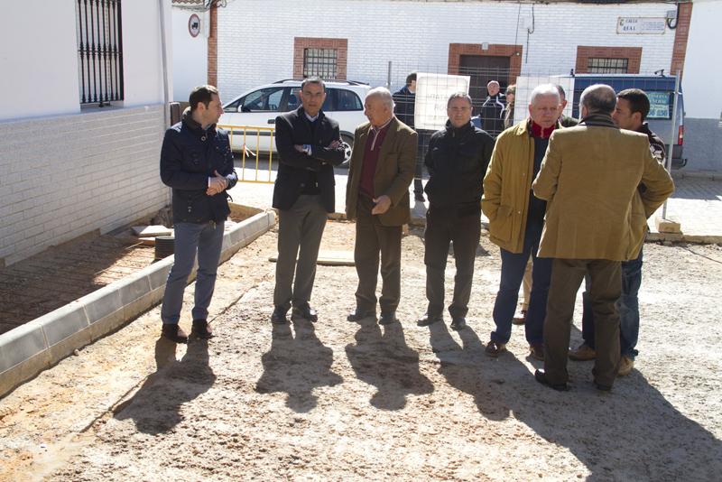Las obras han sido visitadas por el presidente de la Diputación Provincial de Huelva, Ignacio Caraballo.