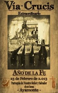 Cartel de los actos y cultos Cuaresmales, obra de Abraham Ceada Santana.