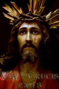 Cartel anunciador del Viernes de Dolores y primera salida de Nuestro Padre Jesús de la Humildad, obra de Carmen Sánchez Ruda.