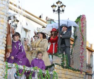 Cerca de 2.000 personas se echaron a la calle en la tarde del domingo de Carnaval en Bollullos