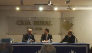 Tony González fue el invitado en los desayunos de la Fundación Caja Rural.