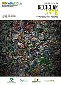 Cartel del I Certamen de Arte y Reciclaje.