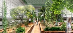 Recreación del proyecto en el interior del parque Celestino Mutis.