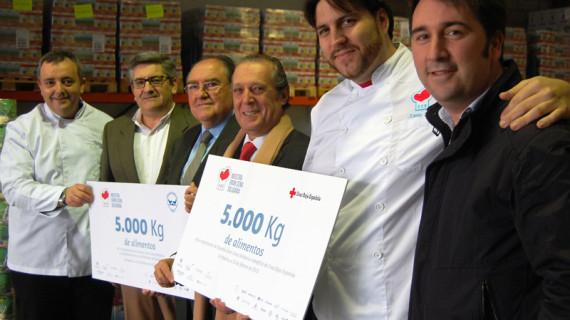 'Nuestra gran cena solidaria' consigue 10.000 kilos de alimentos para Cruz Roja y el Banco de Alimentos de Huelva