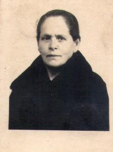 Mujer del primer conserje de la Casa del Guarda del Barrio Obrero.