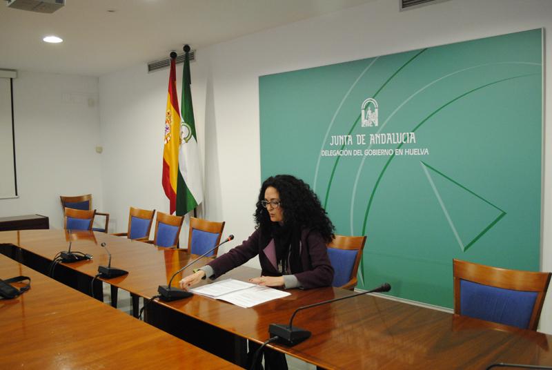 La delegada de Salud y Bienestar Social, Lourdes Martín, en la presentación del balance de la Tarjeta 65.