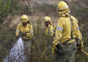 Bomberos extinguiendo el fuego de La Rábida en 2011 / Foto: Flickr