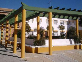 La renovada plaza Virgen de Dolores de Gibraleón.