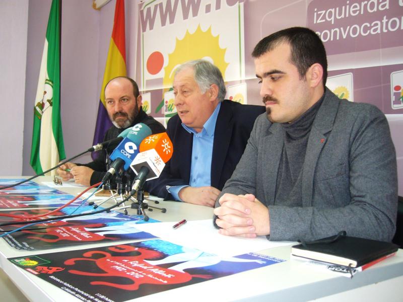 Pedro Jiménez, Felipe Alcaraz y Daniel Hernando en rueda de prensa.