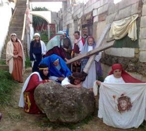 La obra representa los momentos más intensos y dramáticos de la vida de Jesús de Nazaret.