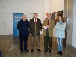Martín Rodríguez, Enrique Pérez, José Luis Ruiz y Matilde Valdivia en la apertura de la muestra.