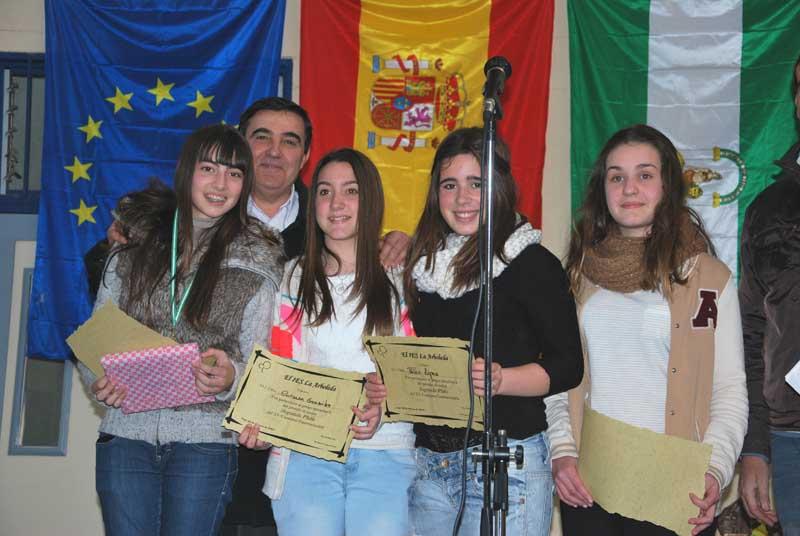 Los ganadores del concurso gastronómico del IES La Arboleda de Lepe.