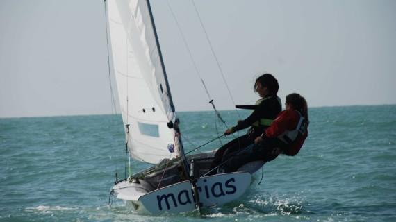 Las onubenses Marta Garrido y Marta Rodriguez, campeonas de Andalucía de 420