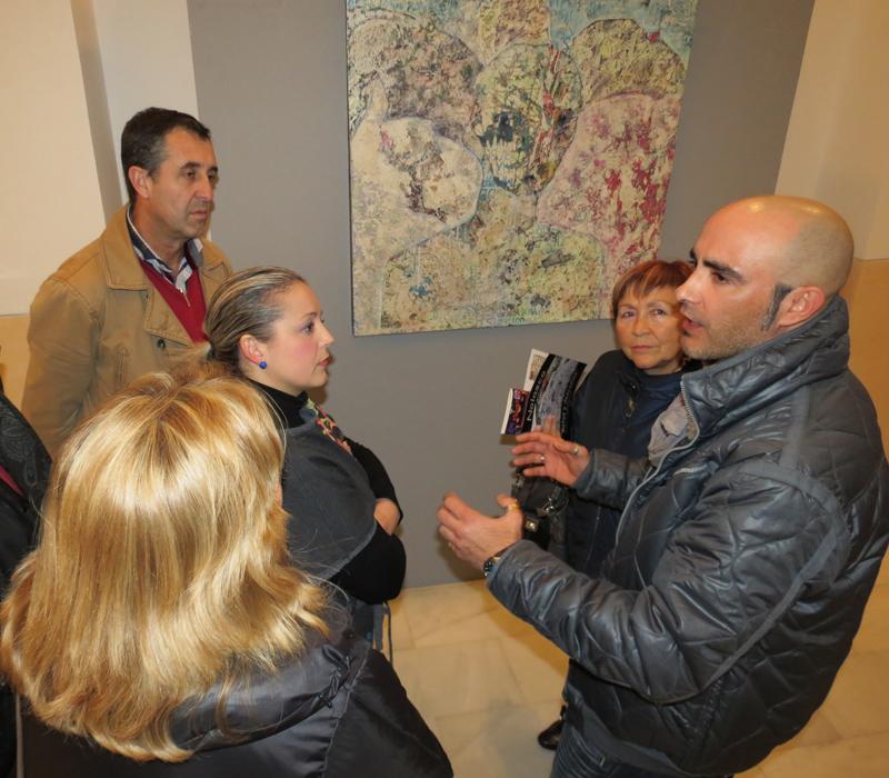 Inauguración de la exposición en Moguer de Pedro Nolasco.