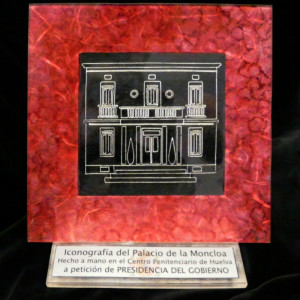Otro de los vacía-bolsillos realizados por los internos de la Prisión de Huelva para La Moncloa.