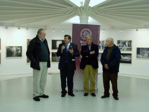 Paco Sánchez, Francisco José Martínez, José Luis Ruiz y el tesorero de la Asociación Latitudes.