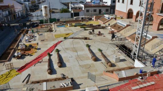 Las obras de la Plaza de la Coronación de Palos de la Frontera, a punto de concluir