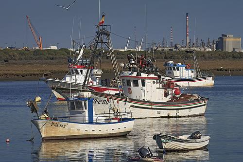 Localizados los tres tripulantes de un barco naufragado frente al Espigón de Punta
