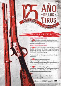 Cartel conmemorativo del 125 aniversario del 'Año de los Tiros'.