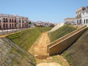 Zona donde se está construyendo la vía verde de Lepe.