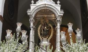 La Virgen de la Cinta procesionará dos veces en 2014 por las calles de Huelva. / Foto: hermandadcinta.com