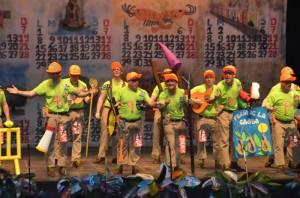 La chirigota vencedora, 'Los Voluntarios'.