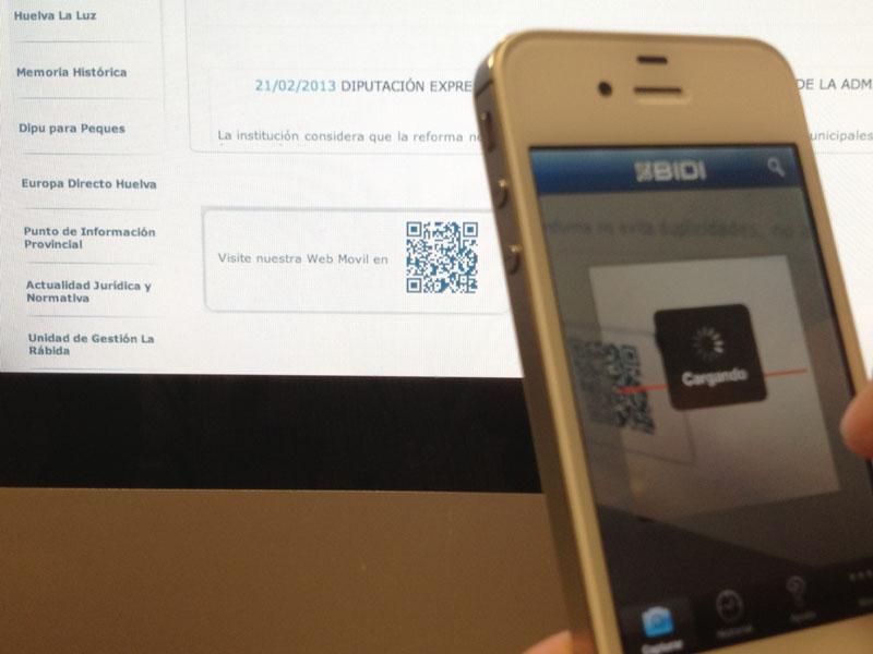 La página web de la Diputación de Huelva se adapta al formato móvil.