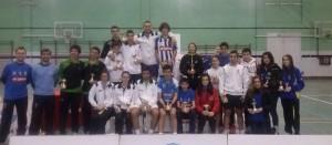 Todos los vencedores del torneo celebrado en el polideportivo Diego Lobato.