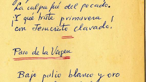 El Archivo Municipal de Huelva amplía sus fondos con un cuadernillo de saetas de Francisco Garrido Sánchez