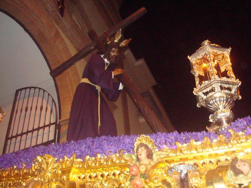 Jesús del Calvario, en el momento de su salida.