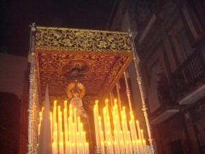 El paso de María Santísima del Rocío y Esperanza.