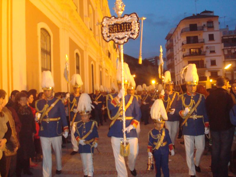 La Hermandad de los Judíos procesiona en el Jueves Santo de Huelva